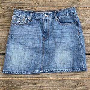 GAP | Womens Lightly Distressed Denim Mini Skirt 6